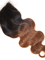 4x4 Top Closure Body Wave Remy Human Hair Closure Medium Brown Swiss Lace 50g Hair Extensions 12''-18'' 1b/30