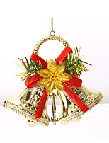 Double Jingle Bells Christmas Tree Ornaments Garland Wreath Merry Xmas Bells Hanging Decoration For Home Festival Supplies