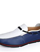 Men's Boat Shoes Moccasin PU Office & Career / Casual Flat Heel Slip-on Blue / Dark Green / Orange Walking EU38-42