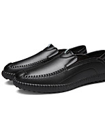Men's Oxfords Spring / Fall Comfort PU Casual Flat Heel Slip-on Black / Brown Sneaker
