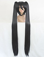 Vocaloid High Quality Synthetic  130cm Long Braided Straight Black Cosplay Wig