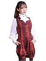 Sweet Lolita Corset Sleeveless Short Length Black / Sky blue / Wine Red / Ink Blue Lolita Dress Terylene