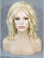 IMSTYLE 14''Hot Selling High Quality Short Wave 613 Blonde Synthetic Lace Front Wigs