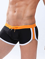 Men Patchwork Shaping Panties Boxers Underwear,Nylon