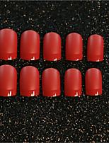 24pcs / набор для ногтей полосы алого матовое текстуры сексуальные зрелые