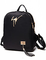 Women Polyester Sports / Casual Backpack Black