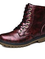 Men's Boots Spring / Fall Comfort PU Casual Flat Heel  Red / Gold / Bronze Others