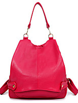Women PU Casual Backpack Pink / Blue / Red / Black