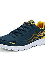 גברים-נעלי ספורט-דמוי עור-נוחות-שחור כחול אפור-שטח יומיומי ספורט-עקב שטוח