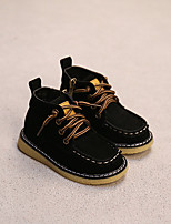 Boy's Boots Comfort Leather Casual Black / Camel
