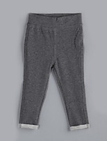 Girl's Casual/Daily Solid PantsCotton Fall Gray