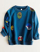 Boy's Casual/Daily Print Hoodie & SweatshirtCotton Fall Blue / Gray