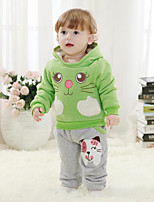 Boy's Casual/Daily Print Clothing SetCotton Winter / Spring / Fall Green