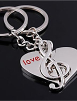 chaîne de clé de voiture clé de couple anneau musical clé musicale anneau instrument métallique