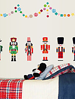 Noël / Bande dessinée / Mode Stickers muraux Stickers avion Stickers muraux décoratifs,PVC Matériel Amovible Décoration d'intérieurWall