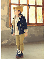 Girl's Casual/Daily Solid Jacket & CoatCotton Winter / Fall Blue