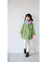 Girl's Casual/Daily Solid Down & Cotton PaddedWool Winter / Spring / Fall Green