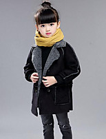 Girl Solid Down & Cotton Padded,Polyester Winter Long Sleeve