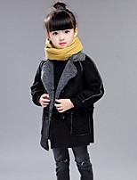 Mädchen Daunen & Baumwoll gefüttert einfarbig Polyester Winter Lange Ärmel