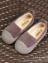 Boy's Loafers & Slip-Ons Comfort PU Casual Black Gray