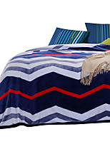 Flannel Multi-color,Solid Stripe 100% Polyester Blankets 200x230cm