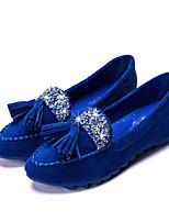 נשים-נעליים ללא שרוכים-דמוי עור-נוחות-שחור / כחול / ורוד / סגול / אדום-קז'ואל-עקב שטוח
