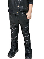 Boy's Casual/Daily Solid PantsPU Winter Black