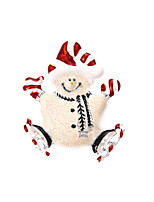 Christmas Women White Snowman Brooches