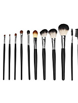 12 Makeup Brushes Set Goat Hair Portable Wood Face  G.R.C / Send Package