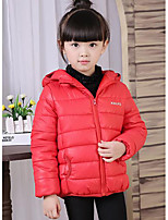 Girl Casual/Daily Solid Down & Cotton Padded,Polyester Winter Long Sleeve