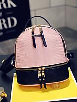 Women PU Casual Backpack White / Pink / Blue