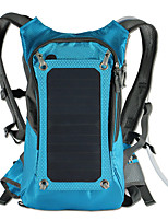 Solar Outdoor Riding Package Rucksack Hydration Pack & Water Bladder 42L Outdoor Blue Canvas Solar Panel Iphone 7