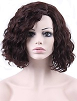 Short Wavy Hair Auburn Color Synthetic Wigs for Women