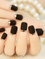high-end french manicure stok grind zand metalen structuur rand trendy en mooi 1set