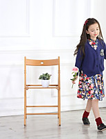 Girl's Casual/Daily Solid Clothing SetCotton Fall Blue / White