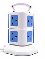 Vertical Socket With USB (Note Blue British Regulation 2 With 2 USB)