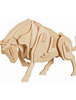 Anoa  Puzzles Wooden Puzzles Building Blocks DIY Toys Bull 1 Wood Ivory Puzzle Toy