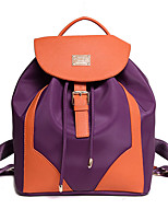 Casual Outdoor Backpack Women PU Purple Black