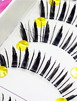 Eyelashes lash Full Strip Lashes Eyes Thick Volumized Handmade Fiber Transparent Band 0.10mm 12mm