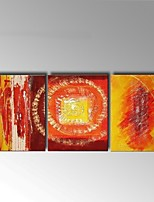 Hand-Painted Abstract Three Panels Canvas Oil Painting For Home Decoration Stretched Frame Ready To Hang