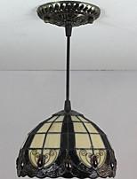 25W Luzes Pingente ,  Tifani / Vintage Pintura Característica for Estilo Mini Metal Quarto / Entrada