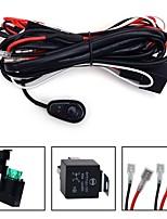 Kawell universal 2 chumbo levou bar kit cablagem de luz com relé fusível interruptor on / off para offroad luz conduzida da condução levou