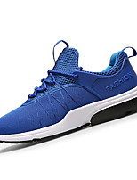 Men's Athletic Shoes Spring / Fall Comfort Tulle Casual Flat Heel Lace-up Black / Blue / White / Gray Sneaker