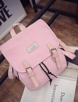 Women Canvas Casual Backpack Pink / Blue / Green / Black / Fuchsia