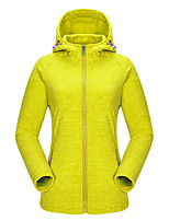 KORAMAN Women's Outdoor Sweatshirt Full-zip Drawsrting Sport Running Hooded Fleece Jacket
