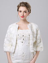 Women's Wrap Shrugs Faux Fur / Imitation Cashmere Wedding / Party/Evening Pattern