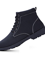 Men's Boots Fall / Winter Comfort PU Casual Flat Heel  Black / Brown / Yellow Sneaker