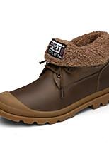 Boty-Kůže-Pohodlné / Kombat boty-Pánské-Černá / Hnědá-Outdoor / Běžné-Nízký podpatek