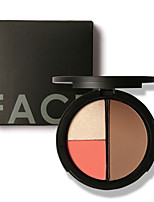 FOCALLURE 3 Colors Shimmer Bronzers and Highlighters Powder Blush