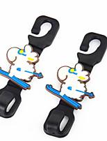 crochets de sécurité bande dessinée animale voiture voiture crochet multiples - siège de voiture à usage retour crochet 2 équipé